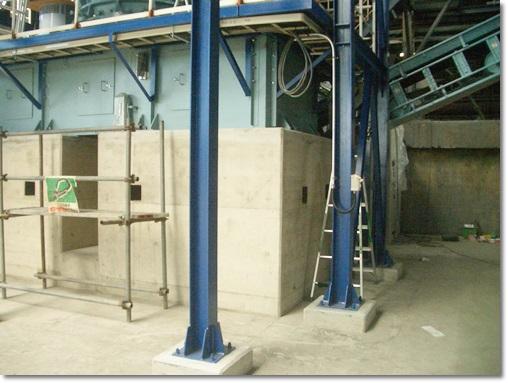 【事業所改修】秋田県小坂町某リサイクル工場破砕機基礎改修工事