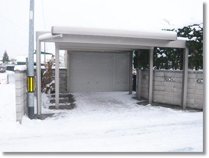 【エクステリア】青森県弘前市、三協立山アルミ/耐雪カーポート【G-1】新設工事